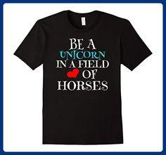 Mens Be a Unicorn T Shirt Gift ideas for women Medium Black - Fantasy sci fi shirts (*Amazon Partner-Link)