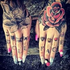 This is the knuckle tat I need in my life