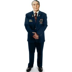 SIZE: 5Ǝ''x22in - Cardboard cutout of Leonid Brezhnev, who was the Central Committee's General Secretary of the Communist Party of the Soviet Union. He served from 1964 to 1982, the longest term as General Secretary since Stalin. Notable decisions were detente between the Western and Eastern countries and sending the Soviet military to Afghanistan. We was known to consult colleagues before acting. moviecutouts.com