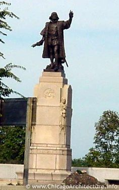 Another statue of Columbus.  It was built in Chicago's Grant Park.  The statute is located near S. Columbus Drive.  It was built for Chicago's Century of Progress Fair in 1933 with funding from the city's Italian-American community.