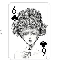 Fashion illustration playing cards by Connie Lim
