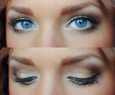 simple makeup for blue eyes