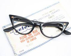 cfe25e757d Small cat eye glasses black vintage cateye eyeglasses Glasses Frames