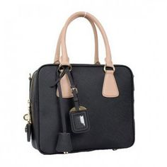 636bf4cc82 €171.00 Shop Prada Saffiano Leather Boston Bag Bl0757 Black Store Online