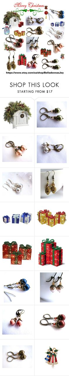 Pearl Earrings Jewelry Gifts by belladonnasjoy on Polyvore featuring Frontgate, WALL, rustic and vintage