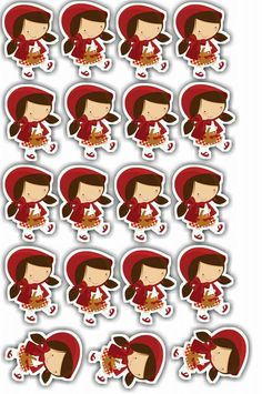Red Riding Hood Party, Little Red Ridding Hood, Red Rising, One Year Birthday, Cute Frames, Three Little Pigs, Cute Clipart, Mermaid Birthday, Scrapbook Stickers