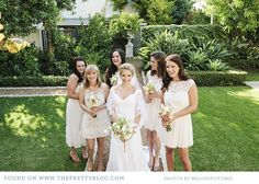 Lacey bridesmaids dresses. Image: welovepictures.