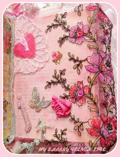 MY SHABBY FRENCH LIFE : LIVRE ALTÉRÉ SHABBY CHIC - ALTERED SHABBY CHIC BOOK