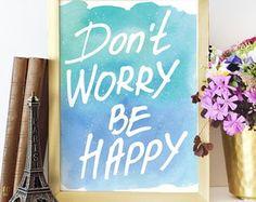 Poster Aquarela Don't Worry