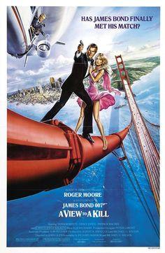 #15 A VIEW TO A KILL / 1985 ROGER MOORE bond girls: TANYA ROBERTS, GRACE JONES, FIONA FULLERTON & ALISON DOODY
