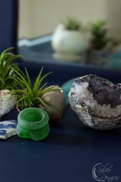 Sea Glass and Geode Decorating with Coastal Elements