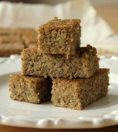 Cinnamon quinoa bars, makes 12-18