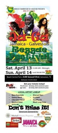 Ja-Ga Reggae Festival Galveston, TX #Kids #Events
