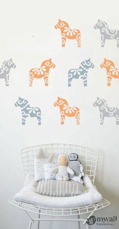 DALA lovacskák - Mywall stencil, Mywall - falmatrica, stencil