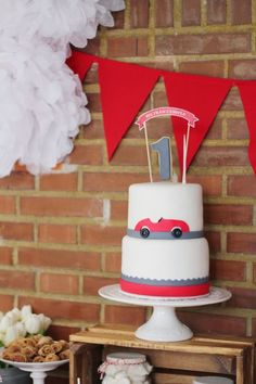 Vintage Red Car themed birthday party with Lots of Really Cute Ideas via Kara's Party Ideas KarasPartyIdeas.com #carparty #firstbirthday #partyideas (21)