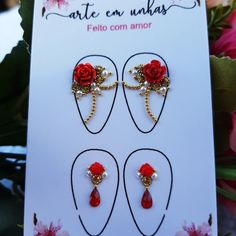 Kawaii Nail Art, Nails Design With Rhinestones, Nail Jewels, Gem Nails, Fancy Nails, Paper Clip, Nail Art Designs, Gems, Stickers