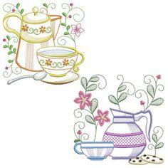 Tea Time Blocks 2 Set, 12 Designs - 3 Sizes!
