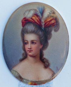 vivelareine:  Antique Marie Antoinette portrait