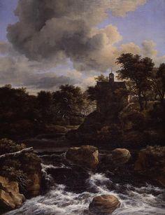 Jacob van Ruisdael - Kapel bij een waterval