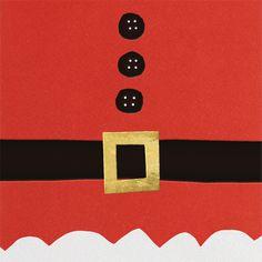 """Ho Ho Ho Santa Belt"" Card, by kate spade new york, Paperless Post"