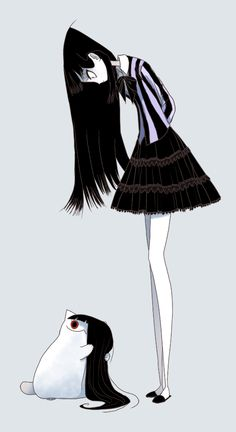 02 23 2016 by CottonValent on DeviantArt Comic Anime, Art Anime, Art Goth, Art Sketches, Art Drawings, Dessin Old School, Creepy Cat, Catty Noir, Arte Obscura