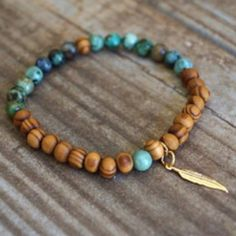 ▪️SALE // Yin Yang Natural Stone Wood Bracelets Amazing healing natural stone and hand carved zebra wood bracelets w/ gold plated feather charm... Perfect for brunch or yoga! 🙏🏻 Colors may vary slightly. Only colors left are African Turquoise & Sunstone. Purchase your color by hitting BUY NOW and then selecting the stone color! Please note: the price is for 1 bracelet ☺️ Made with l❤️ ve in California by the wonderful ladies at Function & Fringe. Chosen as a Best in Retail HP on 7/22/16…