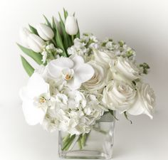 Send The White Garden in San Diego, CA from San Diego Floral Design, the best florist in San Diego. All flowers are hand delivered and same day delivery may be available. Modern Floral Arrangements, Wedding Flower Arrangements, Wedding Centerpieces, White Flower Centerpieces, Faux Flower Arrangements, Faux Flowers, White Flowers, Beautiful Flowers, White Wedding Flowers