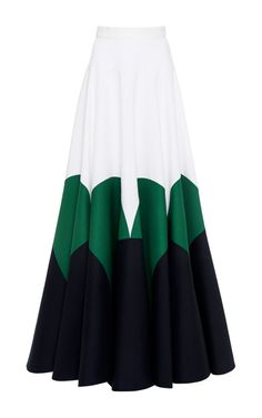 Dark Navy Blue Double Poplin Skirt by DELPOZO for Preorder on Moda Operandi