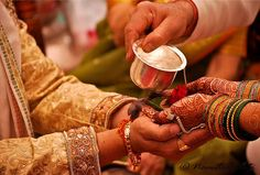 #Kanyadaan, the most touching #Hinduritual where a dotting father gives his darling #daughter's hands in the hands of the #groom.