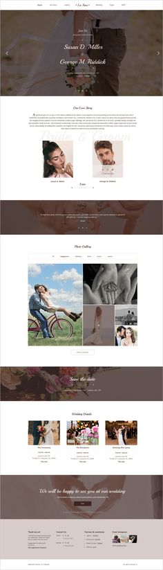 La Ame is the perfect choice for a #couple looking for an elegant and clean #PSD template for perfect #wedding planning websites. Template includes all necessary blocks and pages for perfect celebration wedding: Invitations, RSVP, Gift Registry, Accommodation, Menu, Guestbook, Bridesmaids & Groomsmen's pages etc, with an elegant and unique design download now➩ https://themeforest.net/item/la-ame-elegant-wedding-psd-template/19037725?ref=Datasata