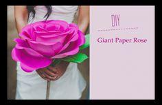 giant paper rose tute