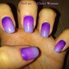 Nail Art. Color variation.