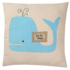 Adorable! - Save the Whales Pillow #NewHomesForSalePhoenix