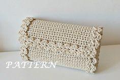 Ganchillo patrón patrón de bolso de ganchillo por isWoolish en Etsy
