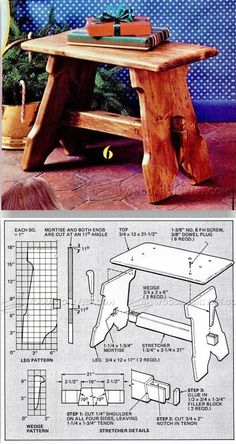 Stool Plans - Furniture Plans and Projects | WoodArchivist.com #woodworkingbench