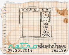 retro sketches : a challenge: retrosketches #129... 08/29