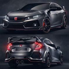 Carro Esporte Clube On Instagram Honda Civic Type R Prototype 2017 Versão Mais Nervosa Da Décima Geração Do é Exibida No Salão De Paris Mondialauto