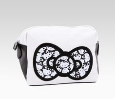 Hello Kitty White Cosmetic Pouch: Monochrome  #SephoraHelloKitty