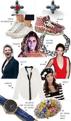 Tá Quente / Tá Frio: Choker, P&B, relógio... - Juliana e a Moda | Dicas de moda e beleza por Juliana Ali