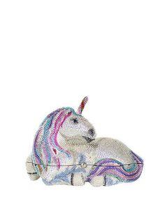 Judith Leiber Couture  Unicorn Crystal Clutch Bag, Silver Rhinestone $5,995.00