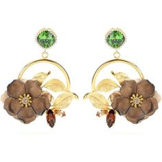 Dolce & Gabbana Embellished Clip-on Earrings ($1,075) ❤ liked on Polyvore featuring jewelry, earrings, orecchini, gold, gold tone earrings, clip-on earrings, yellow gold jewelry, earrings jewelry and gold earrings jewelry