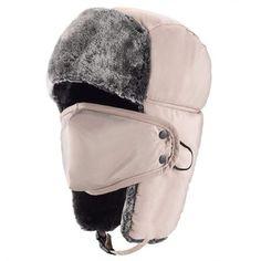 532130a3785 Unisex Winter Trooper Hat Hunting Hat Ushanka Ear Flap Chin Strap and  Windproof Mask (Khaki