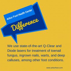 State-of-the-art #lasers are available for treatment of toenail fungus, ingrown nails, warts, and deep calluses.