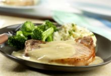 Pork Chops with Creamy Onion Sauce