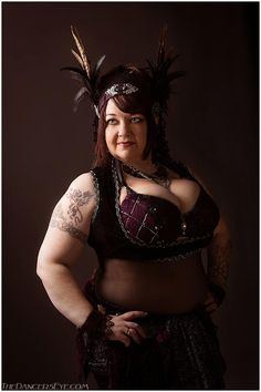 Christina King, director of Blue Lotus Tribe. Photo by The Dancers Eye/Carrie Meyer. (plus size belly dance ♥)
