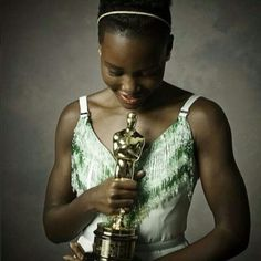 Lupita Nyong'o first woman not born in the U.S. to win an Oscar.  She is now in an elite group of Black Women who have won Best Supporting Actress Award.