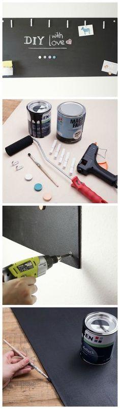 Kostenlose Anleitung: Magnetisches Blackbord bauen / free diy tutorial: how to make a magnetic blackboard via DaWanda.com