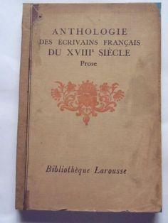ANTHOLOGIE ECRIVAINS FRANCAIS DU XVIII SIECLE NAPOLEON BUFFON LESAGE etc FRENCH*