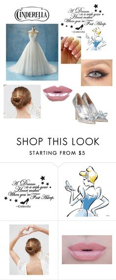 """""""Cinderella"""" by vehapi-miralema ❤ liked on Polyvore featuring Disney, ASOS, Morphe and cinderella"""