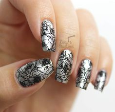 Monochrome flowers :) Bundle Monster + Lucy's Stash Collaboration Stamping Plate & GIVEAWAY! http://www.lucysstash.com/2015/10/bundle-monster-lucy-s-stash-collaboration-stamping-plate-giveaway.html